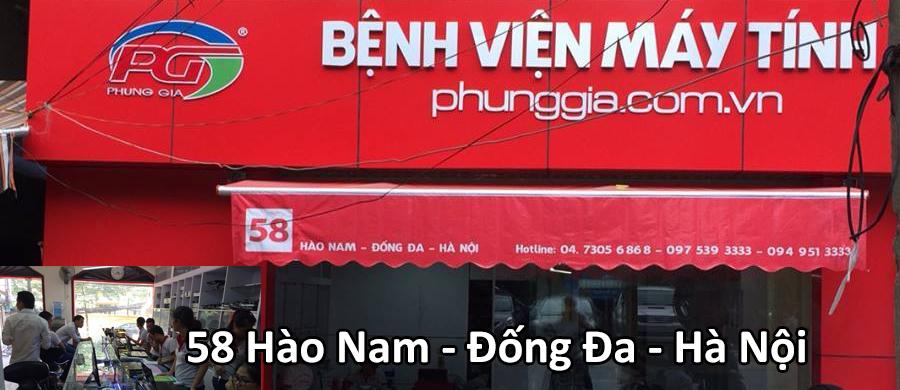 sửa chữa laptop Hào Nam - Đống Đa Giấy Hà Nội