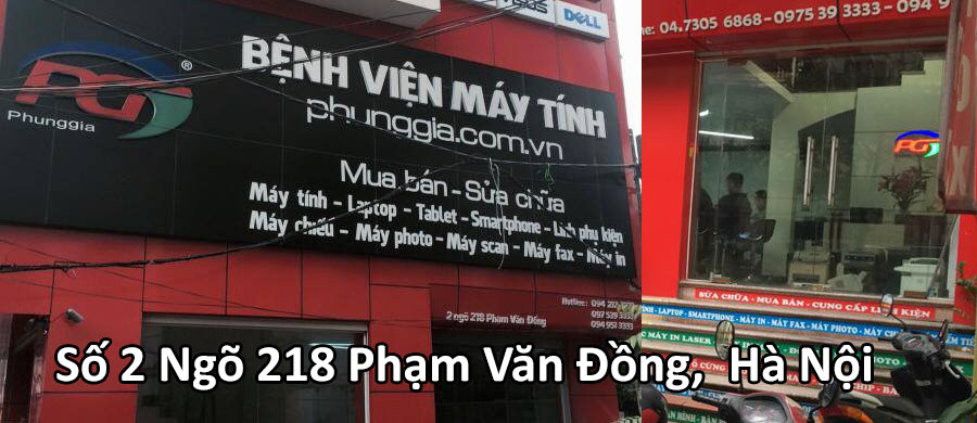 sửa chữa laptop Phạm Văn Đồng - TỪ LIÊM