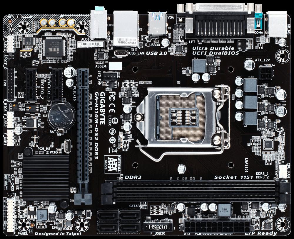 Mua bán cây máy tính cũ Mainboard ASUS H110M-D D3