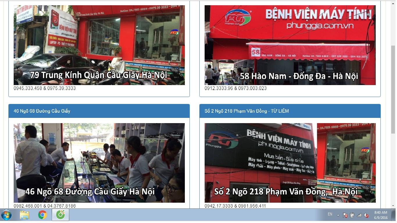 Sửa máy tính tại nhà Huyện Thanh Oai, Thanh Trì, Thường Tín, Ứng Hòa