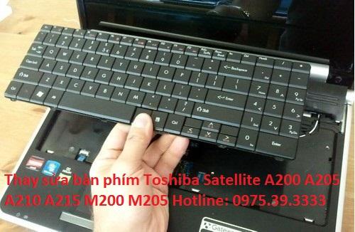 Thay sửa bàn phím Toshiba Satellite A200 A205 A210 A215 M200 M205 giá rẻ hà nội