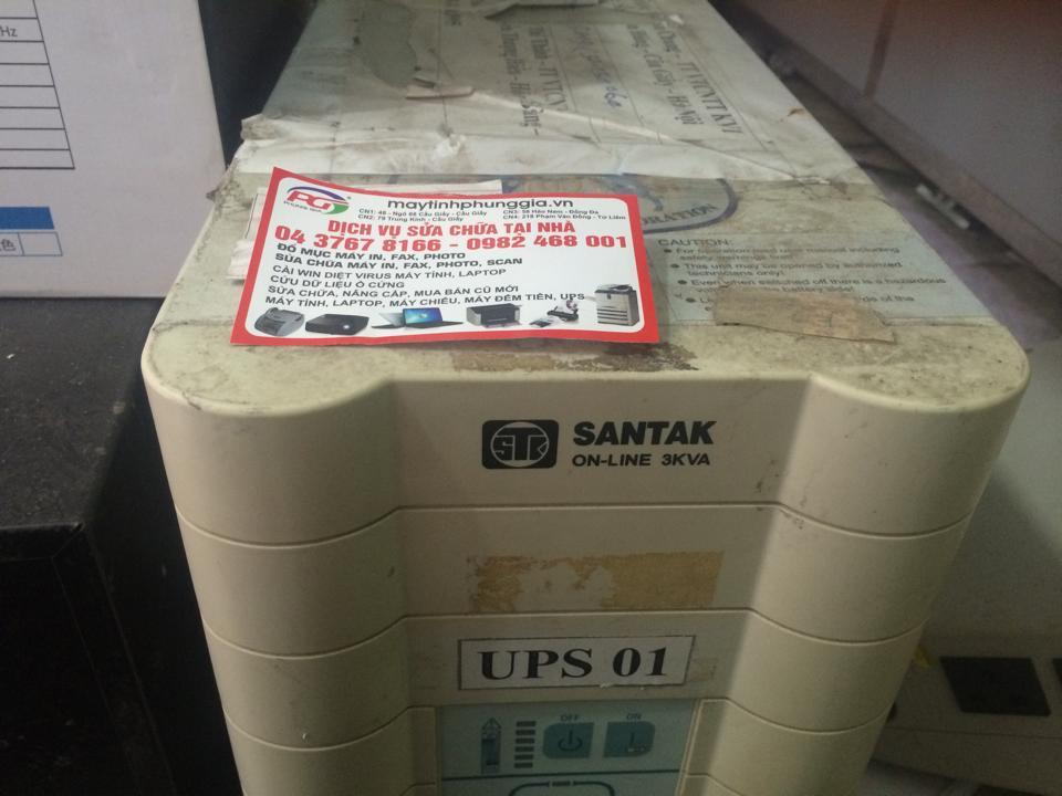 Trung tâm bảo hành sửa bộ lưu điện SANTAK ở hà nội