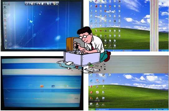 Đang xem thì màn hình máy tính bị rung và giật