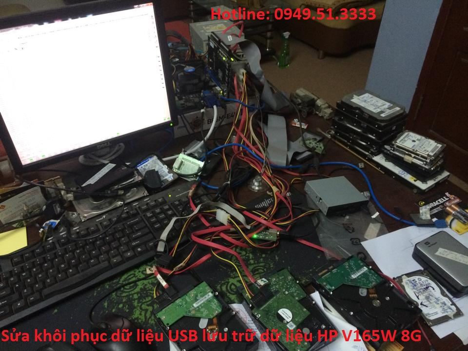 Sửa khôi phục dữ liệu USB lưu trữ dữ liệu HP V165W 8G
