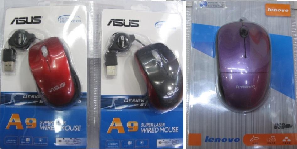 Chuột quang dây rút Acer A820, cổng USB