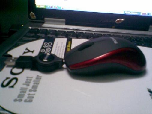 Chuột quang SONY S609, dây rút, cổng USB