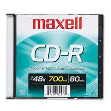 Đĩa trắng CD Maxell Hộp 1 cái