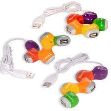 Hub USB hình thang 4 cổng nhiều màu sắc