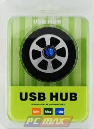 Hub USB 1 ra 4 cổng - hình bánh xe