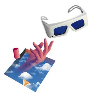 Kính 3D xem phim 3D có gọng