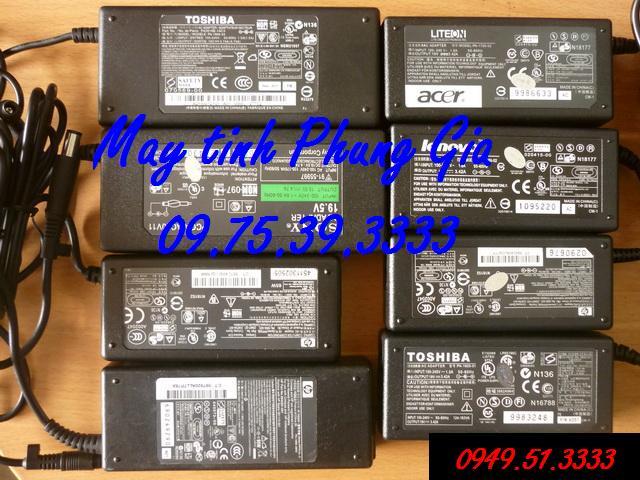 Mua bán sạc pin laptop HP 18,5V -3,5A chân kim
