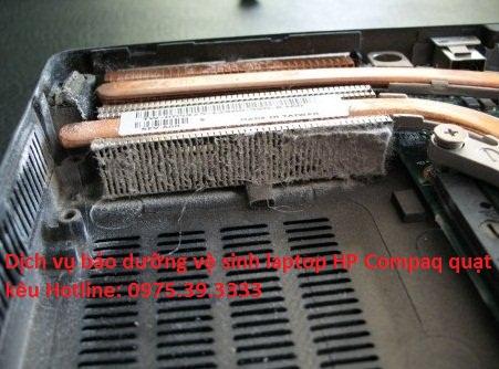 Dịch vụ bảo dưỡng vệ sinh laptop HP Compaq quạt kêu